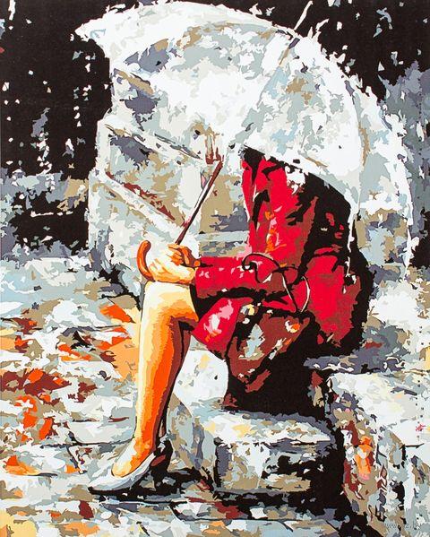 """Картина по номерам """"Размышления под дождем"""" (400х500 мм)"""