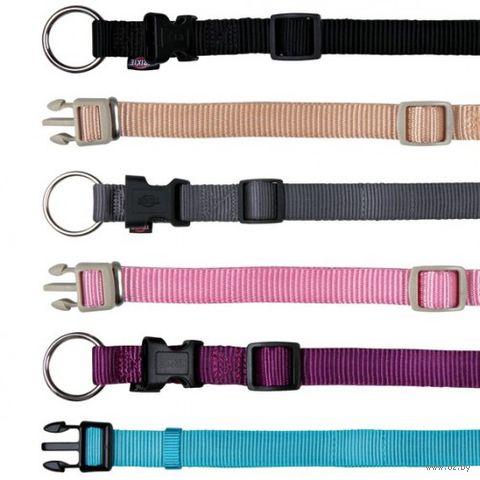 """Ошейник нейлоновый для собак """"Premium Collar"""" (размер XS–S, 22-35 см, бежевый)"""