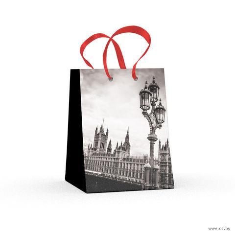 """Пакет бумажный подарочный """"Города"""" (11,1х13,7х6,2 см) — фото, картинка"""