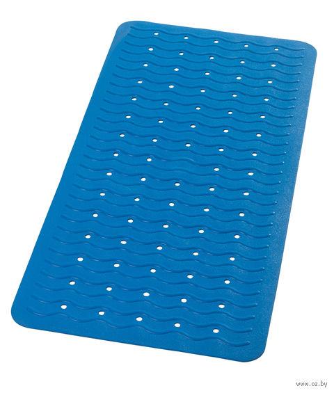 """Коврик для ванной резиновый """"Волна"""" (38х80 см; голубой) — фото, картинка"""