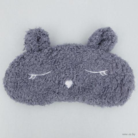 """Маска для сна """"Пушистый заяц"""" (серая) — фото, картинка"""