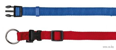 """Ошейник нейлоновый для собак """"Premium Collar"""" (размер XS–S, 22-35 см, ягодный)"""