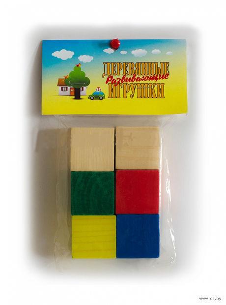 """Кубики """"Цветные"""" (6 шт) — фото, картинка"""