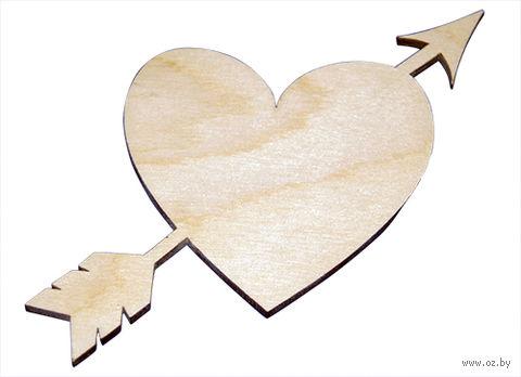 """Заготовка деревянная """"Сердце со стрелой"""" (150х150 мм) — фото, картинка"""