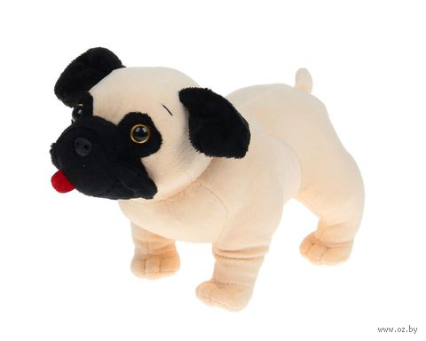 "Мягкая игрушка ""Собачка мопс"" (13 см) — фото, картинка"