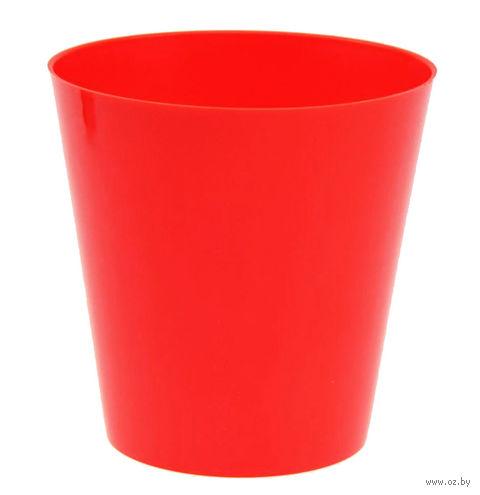 """Цветочный горшок """"Сэмпл"""" (11 см; красный) — фото, картинка"""