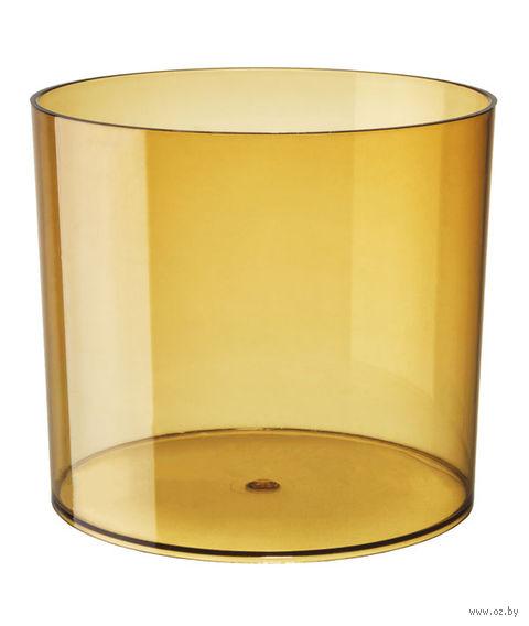 """Цветочный горшок """"Цилиндр"""" (13,5 см; прозрачный медовый) — фото, картинка"""