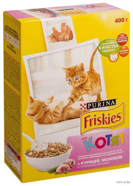 Корм сухой для котят (400 г; курица, молоко и овощи) — фото, картинка