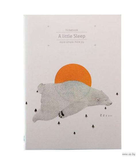 """Блокнот в линейку """"A Little Sleep. Медведь"""" (255х185 мм) — фото, картинка"""