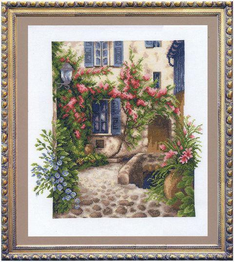 """Вышивка крестом """"Уютный дворик"""" (350х360 мм) — фото, картинка"""