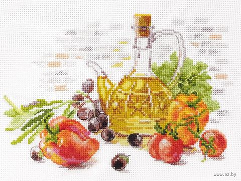 "Вышивка крестом ""Оливковый натюрморт"" (190х130 мм) — фото, картинка"