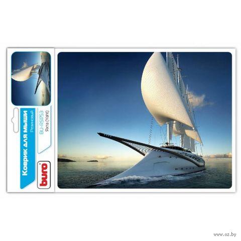 Коврик для мыши Buro BU-R51753 (рисунок/яхта) — фото, картинка
