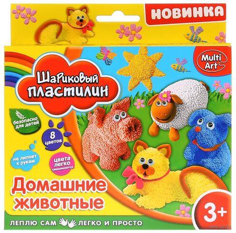 """Пластилин шариковый """"Домашние животные"""" (8 цветов) — фото, картинка"""