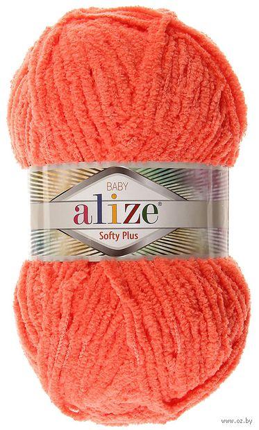 "Пряжа ""ALIZE. Softy Plus №526"" (100 г; 120 м; гранатовый) — фото, картинка"
