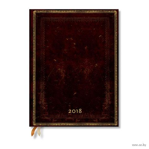 """Еженедельник Paperblanks """"Черная Марокканская кожа"""" на 2017 год (формат: 135x210 мм, макси)"""