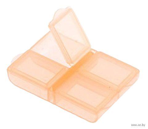 Органайзер для рукоделия (оранжевый; 4 отделения) — фото, картинка