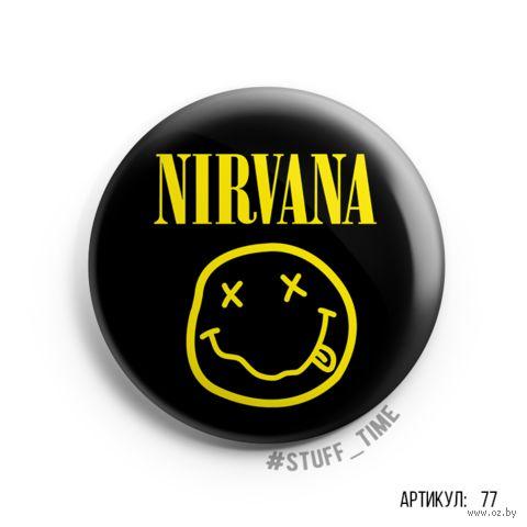 """Значок """"Nirvana"""" (арт. 077) — фото, картинка"""