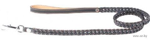 Поводок из натуральной кожи (1,22 м; черный; 05401) — фото, картинка