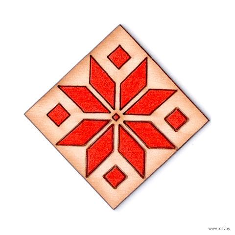 """Значок деревянный """"Белорусский узор"""" — фото, картинка"""