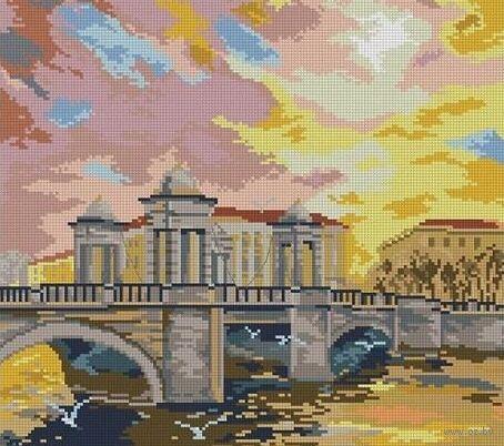 "Алмазная вышивка-мозаика ""Мост"" (420х550 мм) — фото, картинка"