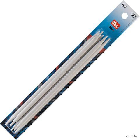 Спицы чулочные для вязания (пластик; 6,5 мм; 20 см) — фото, картинка