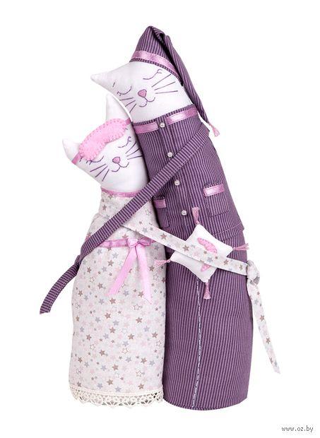 """Набор для шитья из ткани """"Коты-обнимашки. Пижамные"""" — фото, картинка"""