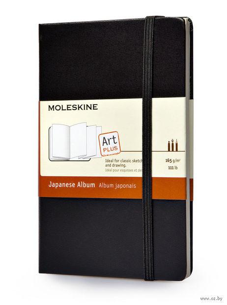 """Записная книжка Молескин """"Classic"""" в японском стиле (карманная; твердая черная обложка)"""