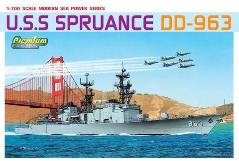"""Миноносец """"U.S.S. Spruance DD-963"""" (масштаб: 1/700) — фото, картинка"""