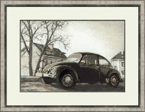 """Вышивка крестом """"Старая фотография. Жук"""" (арт. 1177)"""