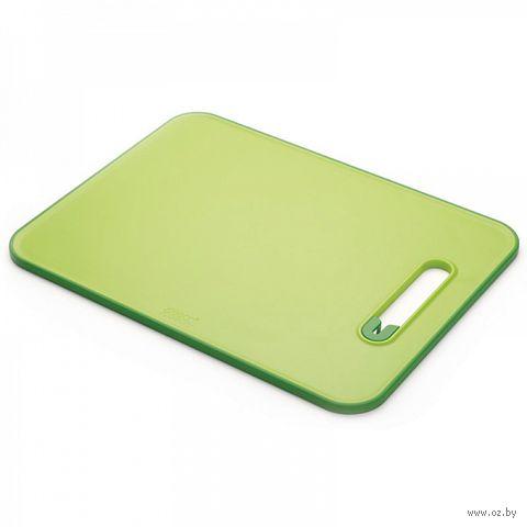 "Доска разделочная с ножеточкой ""Slice&Sharpen"" (370х280х10 мм; зеленая) — фото, картинка"