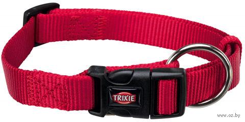"""Ошейник нейлоновый для собак """"Premium Collar"""" (размер M-L; 35-55 см; красный)"""