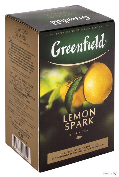 """Чай черный листовой """"Greenfield. Lemon Spark"""" (100 г) — фото, картинка"""