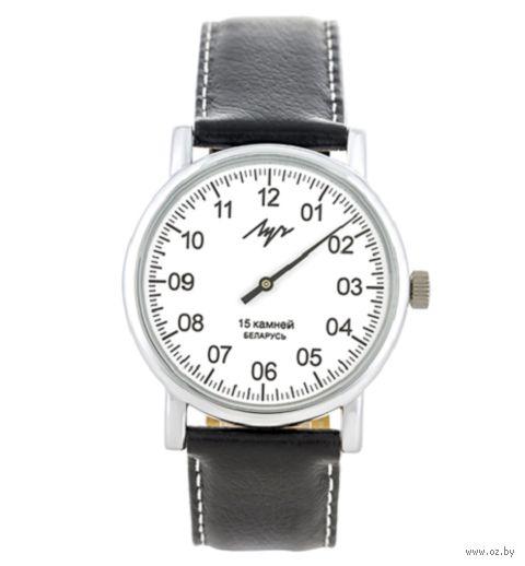 """Часы наручные """"Однострелочник"""" (чёрные; арт. 77471760) — фото, картинка"""