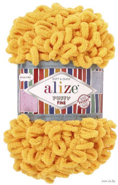 "Пряжа ""ALIZE. Puffy Fine №82"" (100 г; 14 м; желтый) — фото, картинка"