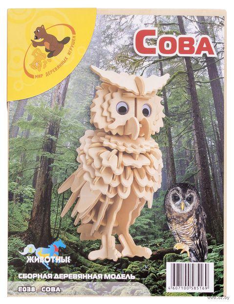 """Сборная деревянная модель """"Сова"""" — фото, картинка"""