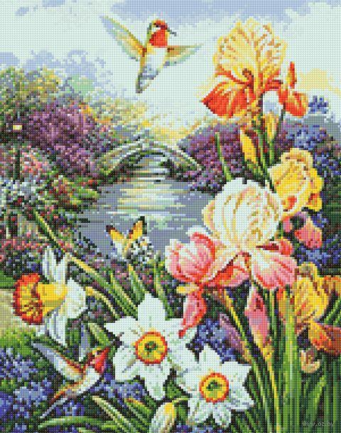 "Алмазная вышивка-мозаика ""Сбор нектара"" (380х480 мм) — фото, картинка"