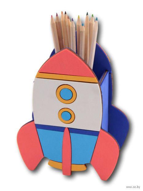 "Подставка для канцелярских принадлежностей ""Ракета"" — фото, картинка"