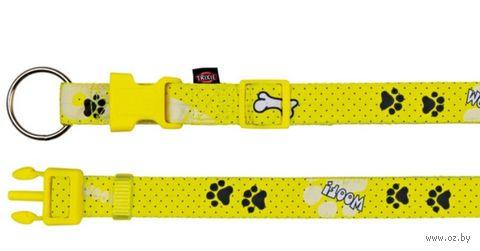 """Ошейник нейлоновый для собак """"Modern Art Collar Woof"""" (размер S-M, 30-45 см, желтый, арт. 15190)"""
