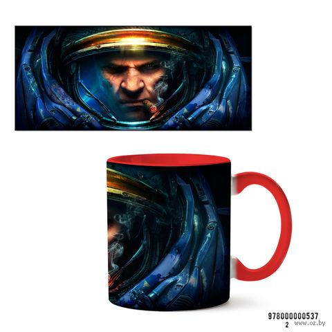 """Кружка """"StarCraft 2"""" (537, красная)"""