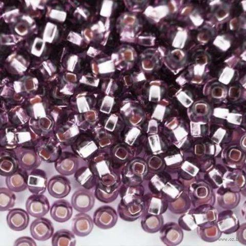 Бисер прозрачный с серебристым центром №27010 (светло-сиреневый)