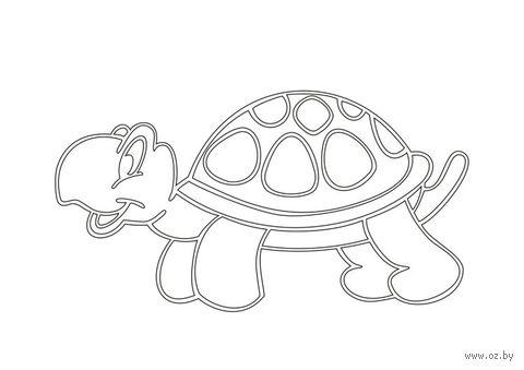 """Трафарет для рисования песком """"Черепаха"""" (А4)"""
