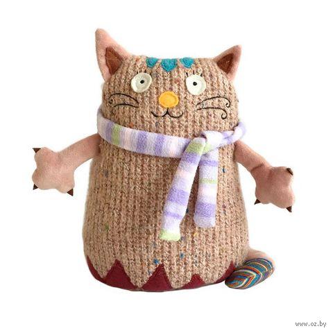 """Мягкая игрушка """"Кот Котейка"""" (15 см; розовый)"""