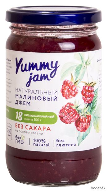 """Джем """"Yummy Jam. Малиновый"""" (350 г) — фото, картинка"""