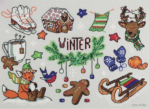"""Вышивка крестом """"Зима в кармане"""" (310х230 мм) — фото, картинка"""