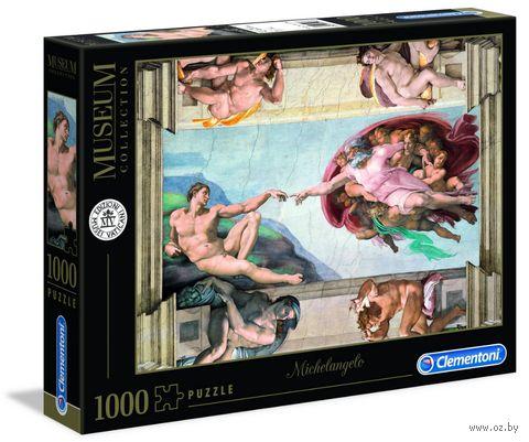 """Пазл """"Микеланджело. Сотворение Адама"""" (1000 элементов) — фото, картинка"""