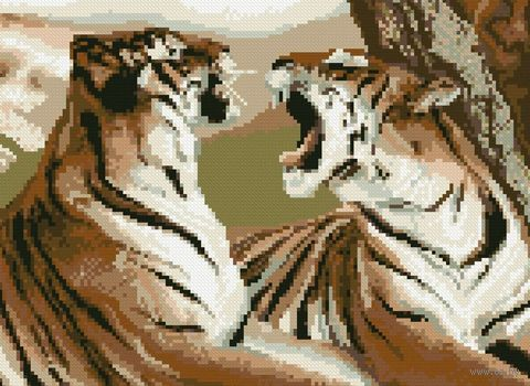 "Вышивка крестом ""Тигры"" (300x225 мм) — фото, картинка"