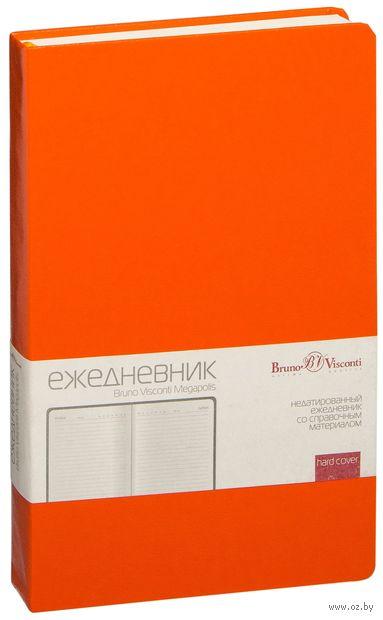 """Ежедневник недатированный """"Megapolis"""" (А5; оранжевый) — фото, картинка"""