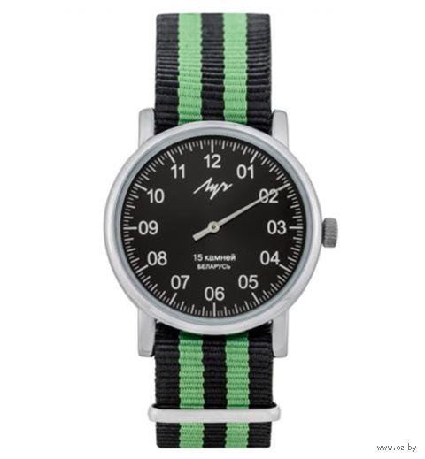 """Часы наручные """"Однострелочник"""" (чёрно-зелёные; арт. 77471771) — фото, картинка"""