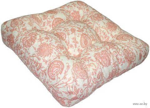 "Подушка на стул ""Printed"" (40х40 см; персиковая) — фото, картинка"