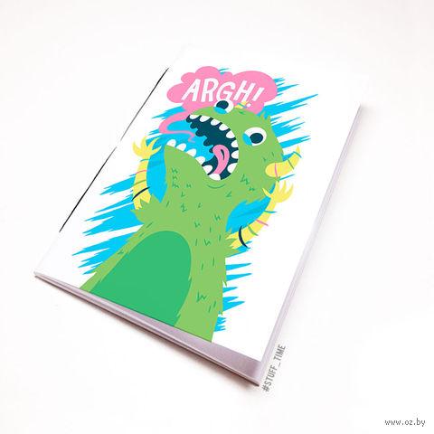 """Блокнот белый """"Динозавр"""" А6 (098)"""